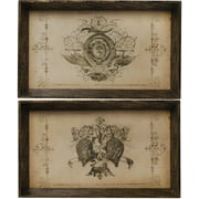 ab home wooden decorative trays - Decorative Trays
