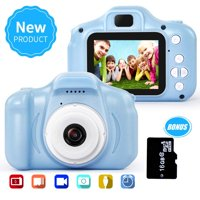 Amerteer Kid Camera for Girls or Boys Age 3-12, 13MP 1080P Toddler Digital Camera with 16G TF Card and 13 Mega Pixel Lens 2.0 inch FHD Screen for Children Birthday Christmas Toy Gifts-Blue