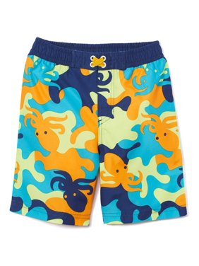 Freestyle Revolution Baby Toddler Boy Octopus Camo Swim Trunks