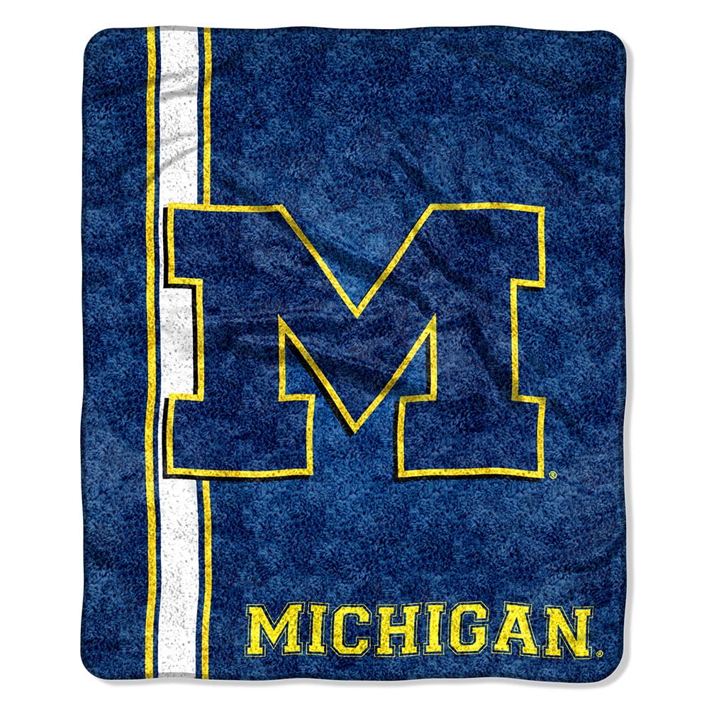 Michigan Wolverines Blanket 50x60 Sherpa Jersey Design