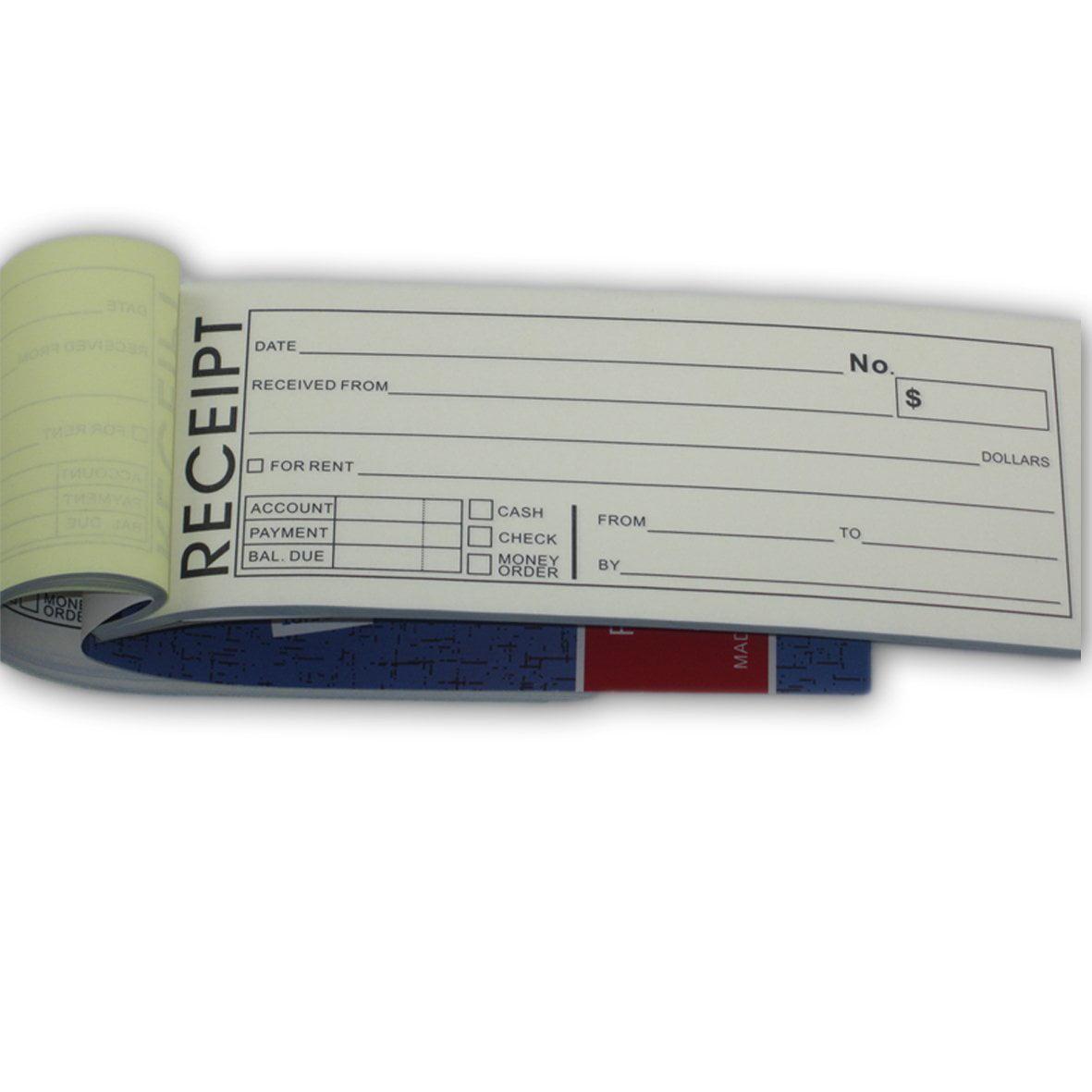 Rent Receipt Book With Carbon Copy Duplicate 2 parts 50 Sets Size: 8 ...