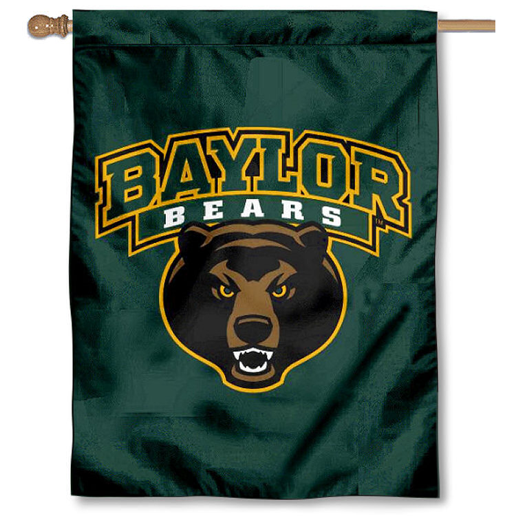 "Baylor BU Bears Bear Logo 30"" x 40"" Double Sided House Flag"