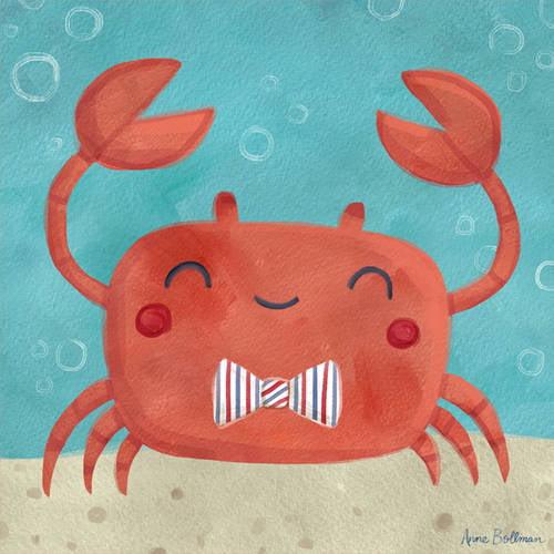 Oopsy Daisy's Let's Set Sail Crab Canvas Wall Art, 10x10