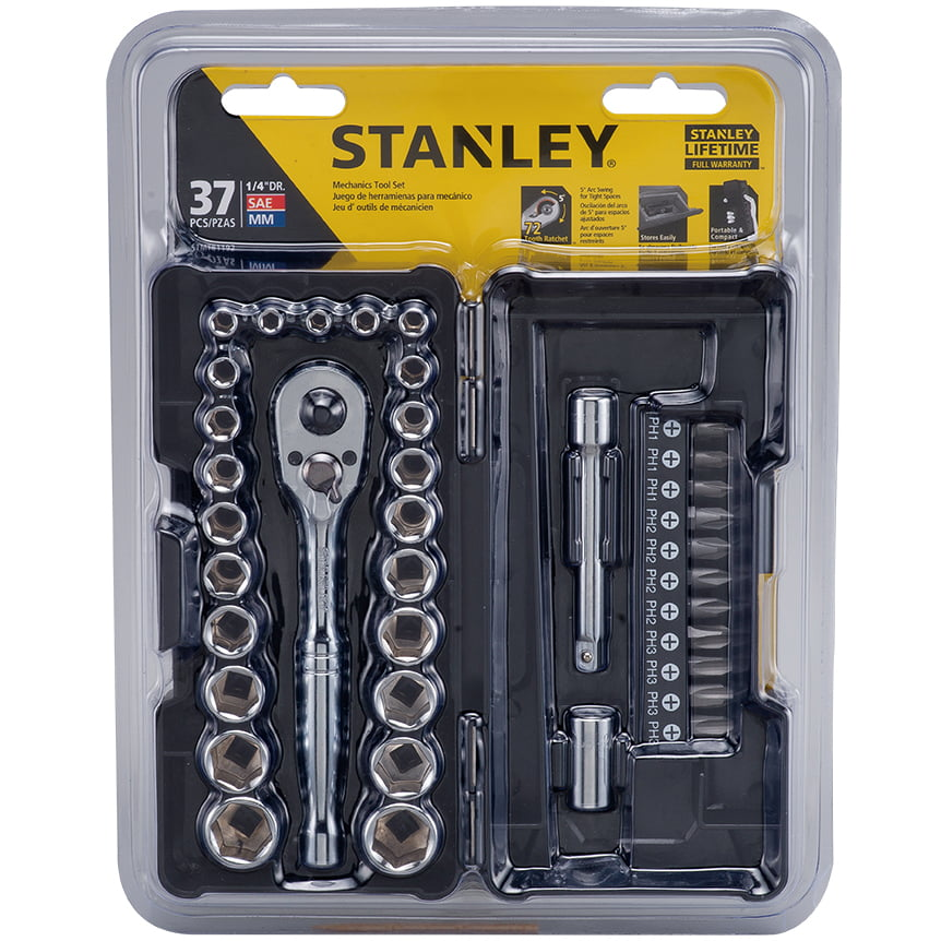 Fantastic Stanley Stmt81192 37 Piece Micro Mechanics Tool Set Walmart Com Ibusinesslaw Wood Chair Design Ideas Ibusinesslaworg