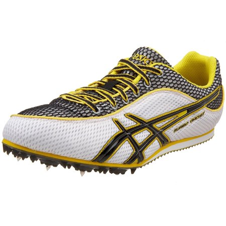 ASICS G003N 0190 MEN'S TURBO GHOST 3 TRACK SPIKES WHITE/BLACK/YELLOW