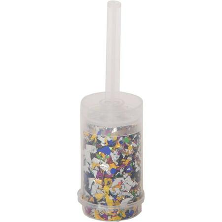 Custom Confetti Poppers ((4 pack) Push Up Confetti Popper, Multicolor,)
