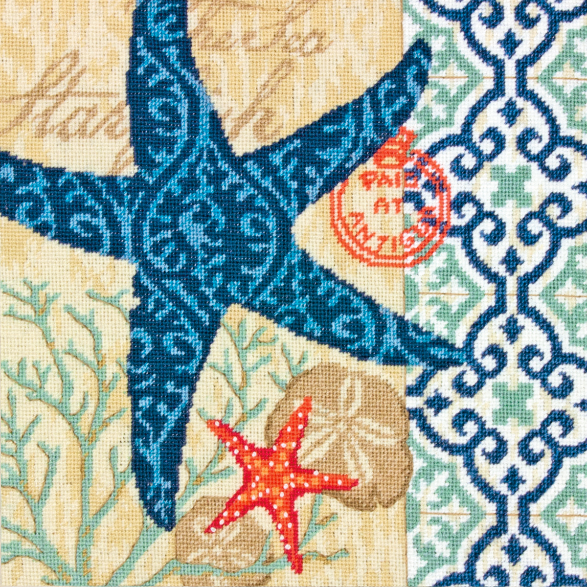 "Dimensions Starfish Needlepoint Kit, 14"" x 14"""