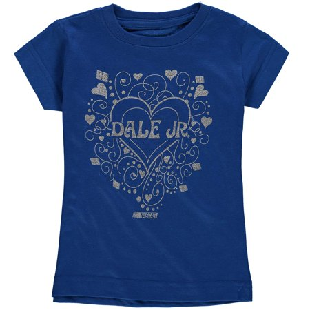 Dale Earnhardt Jr. Hendrick Motorsports Team Collection Girls Toddler Zippy Love 1-Spot T-Shirt - Royal (Dale Earnhardt Jr Girls Tee)