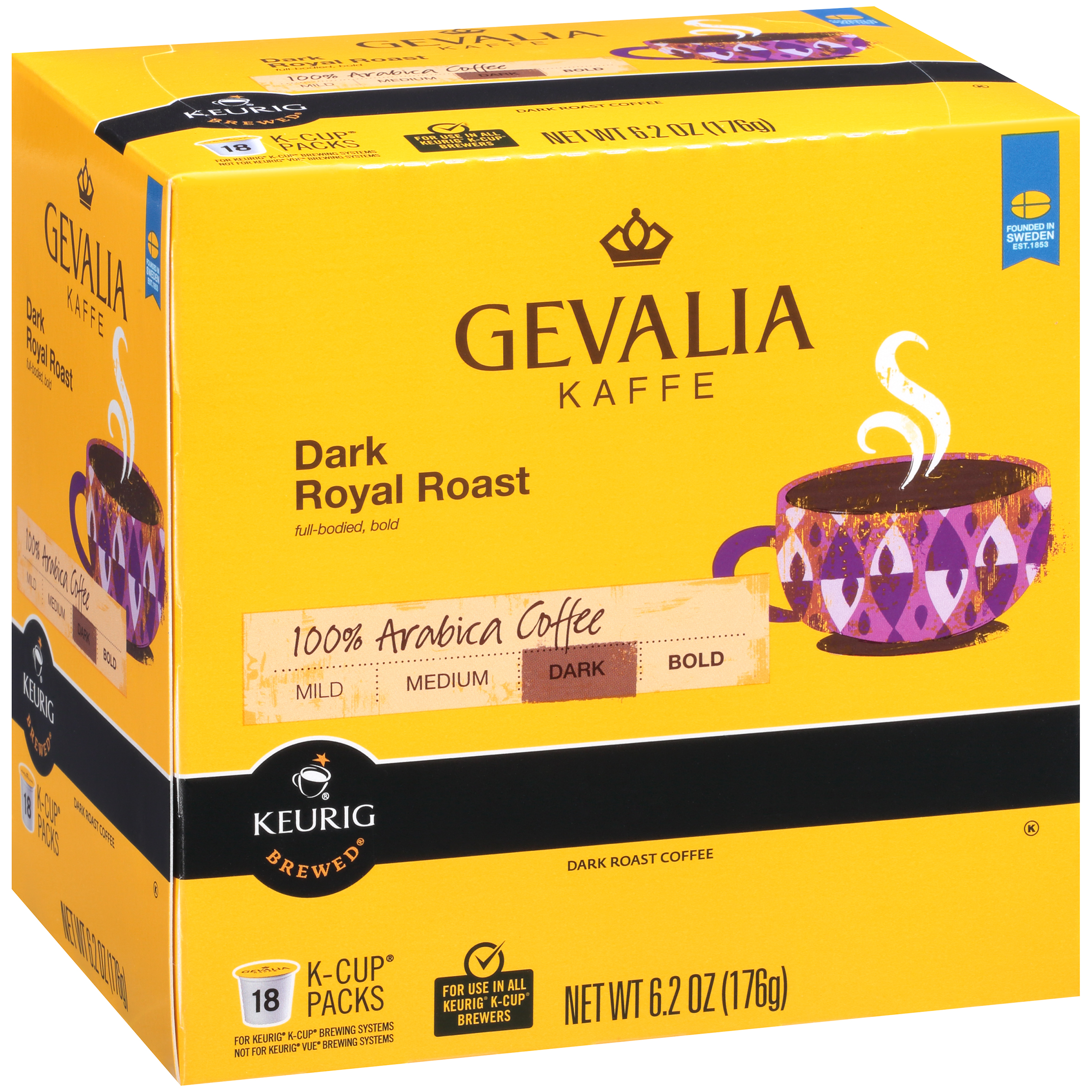 Gevalia Dark Royal Roast Coffee K-Cup® Pods 18 ct Box