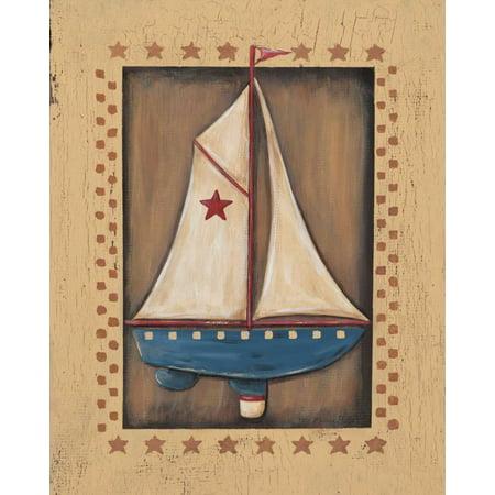 Sailboat Stretched Canvas - Jo Moulton (24 x 30)