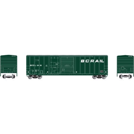 Athearn 87199 Ho British Columbia Railway 50 Fmc Combo Door Box Car  5435