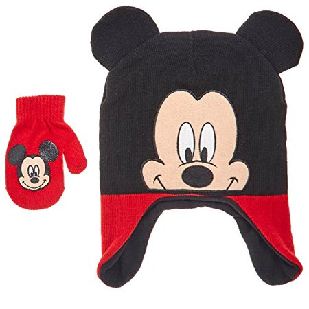 80e4be7fa Disney Mickey Mouse Toddler Little Boys Winter Hat & Mitten Set