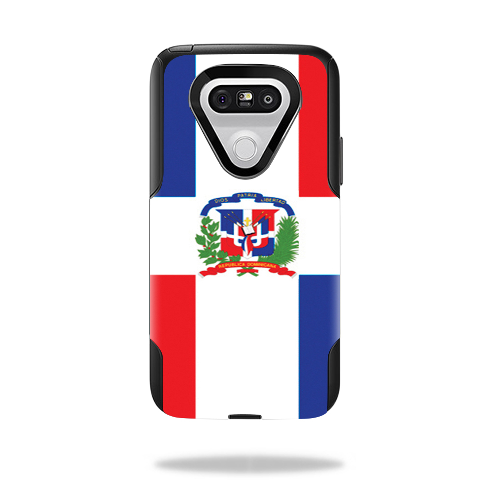 MightySkins Protective Vinyl Skin Decal for OtterBox Commuter LG G5 Case wrap cover sticker skins Dominican Flag
