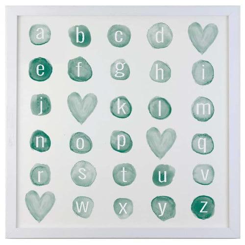 Petal Lane Watercolor Alphabet Magnetic Memo Board