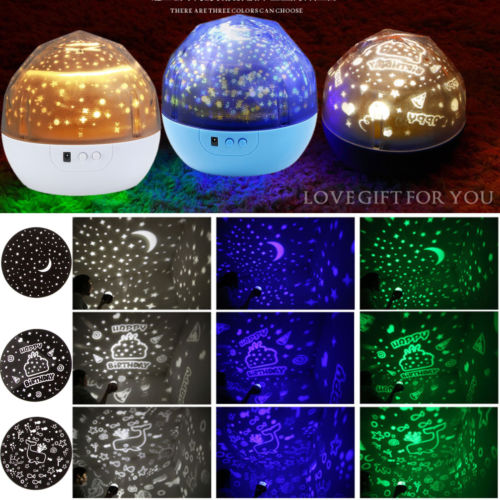 CASUNG Star Projector Night Light Romantic LED Starry Night Lamp Star Light Cosmos Master USB Rotation Kids Gift White Color