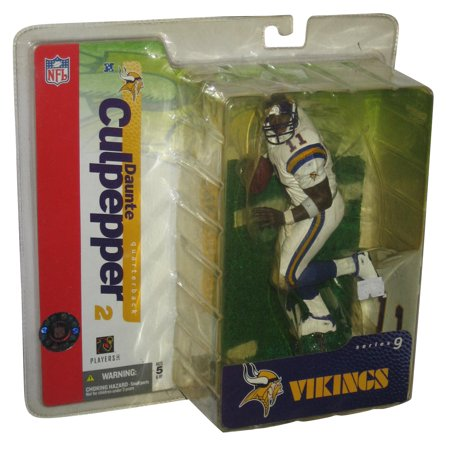 NFL Football SportsPicks Series 9 Daunte Culpepper White Jersey McFarlane Toys Figure