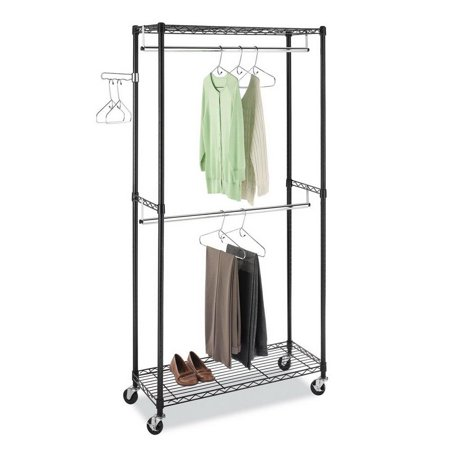 Zimtown Closet Organizer Garment Rack Clothes Hanger Home Shelf Heavy Duty Furniture ()