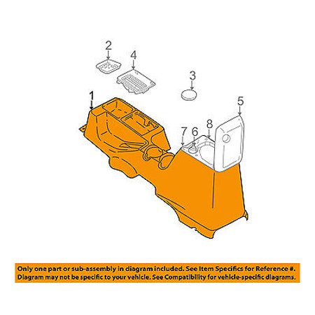 jeep chrysler oem 97 98 wrangler center console sj871t6aa. Black Bedroom Furniture Sets. Home Design Ideas