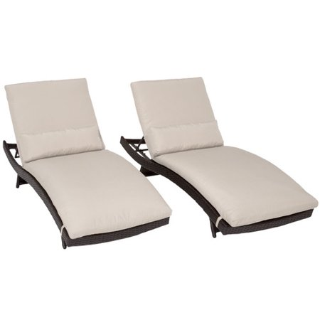 Tk classics bali chaise lounge with cushion set of 2 for Balinese chaise lounge