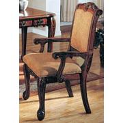 Arm Chair in Distressed Walnut Finish