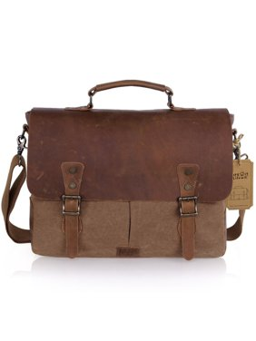 f4625b2f0b Product Image Lifewit 15.6 inch Leather Laptop Messenger Satchel Bag Canvas  Briefcase
