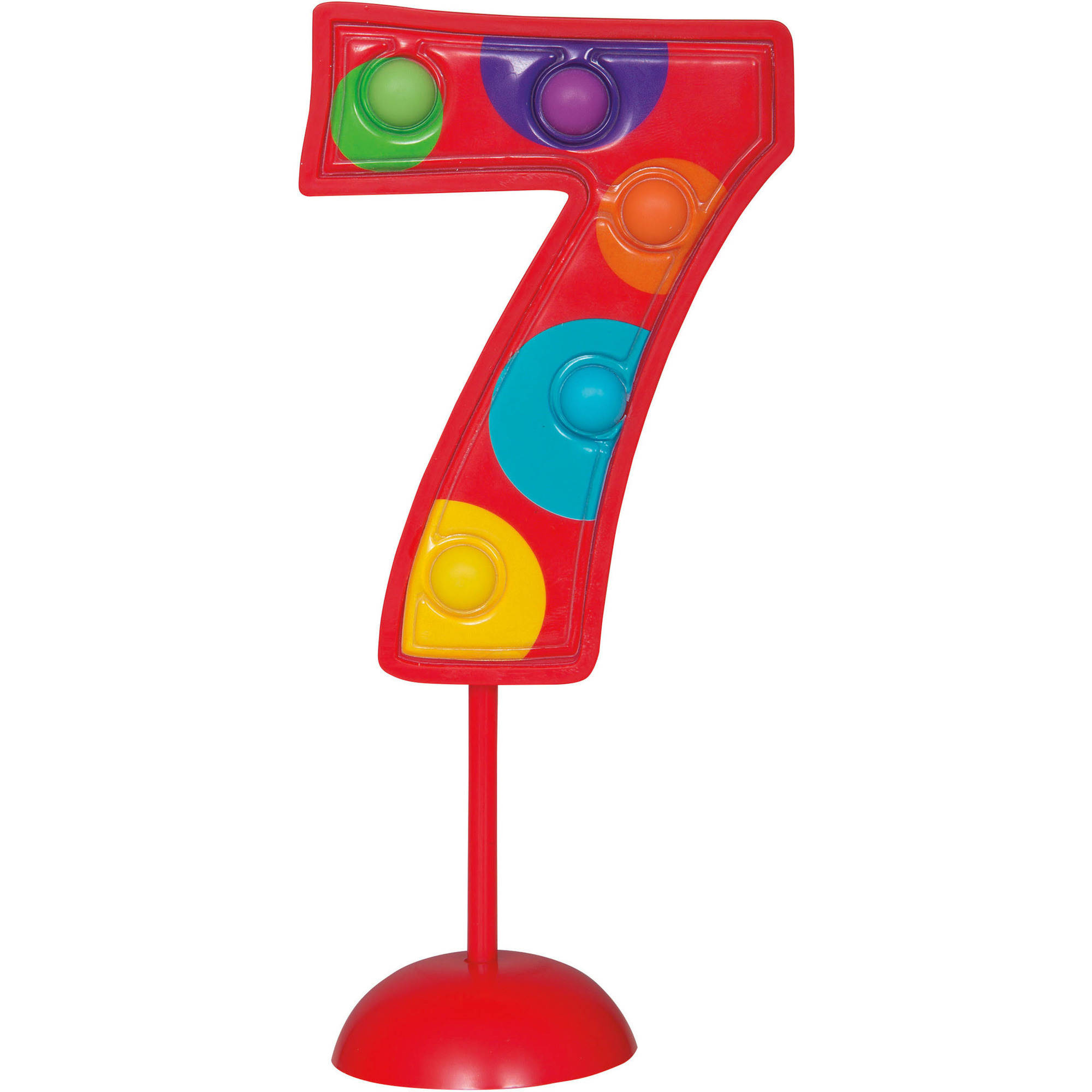 Flashing Number 7 Cake Topper Decoration, 1ct