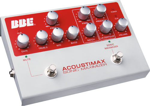 BBE AcoustiMax Sonic Maximizer Guitar Pedal PreAmp Foot-Pedal Open Box by BBE