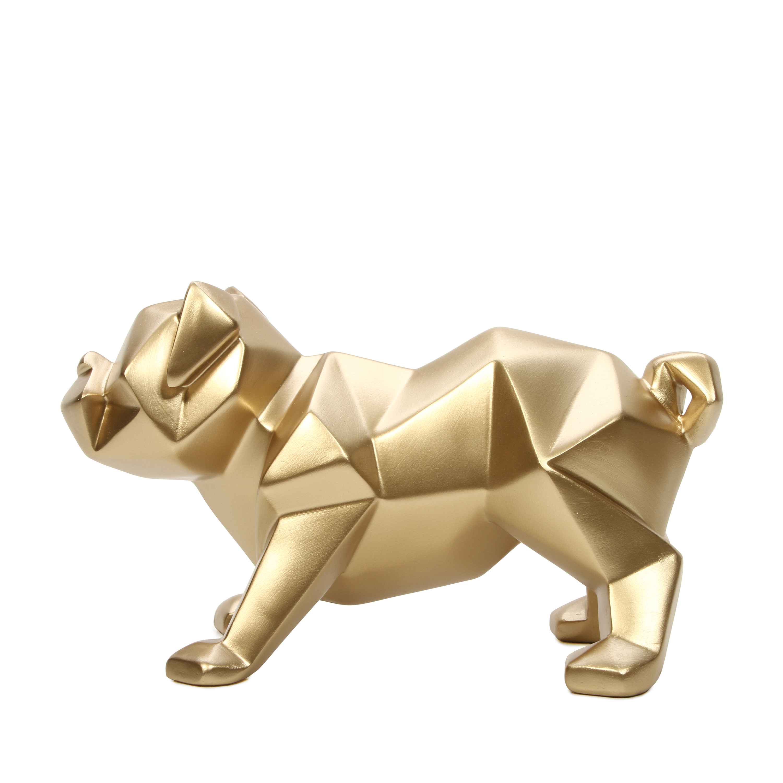 "Mainstays 5""High Tabletop Resin Geometric Dog Gold Finish"