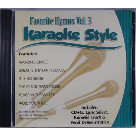 Favorite Hymns Volume 3 Daywind Christian Karaoke Style NEW CD+G 6 Songs - Great Halloween Karaoke Songs