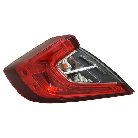TYC 11-6878-00-1 Tail Light Rear Left Outer Driver LH Warranty for HONDA CIVIC