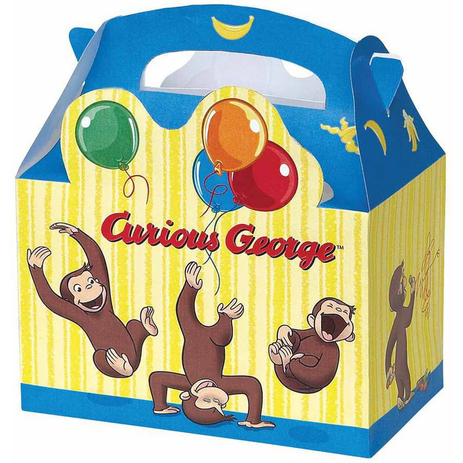 Curious George Favor Boxes, 4ct