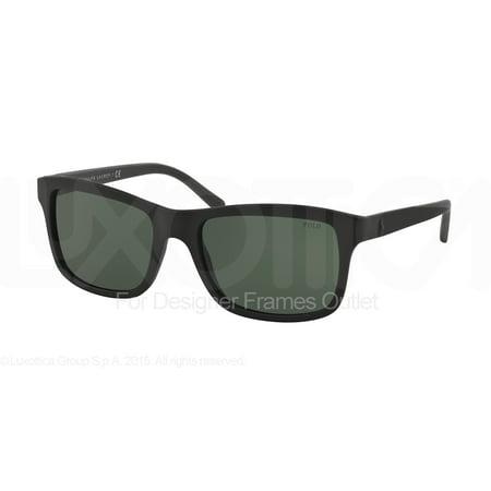 Polo Ralph Lauren PH4095 552371 57 matte black / green d2XGT9J
