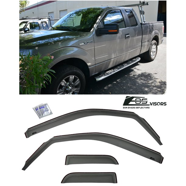 Extreme Online Store For 2004 2014 Ford F 150 Extended Cab Eos Visors In Channel Side Window Vents Rain Guard Deflectors Walmart Com Walmart Com