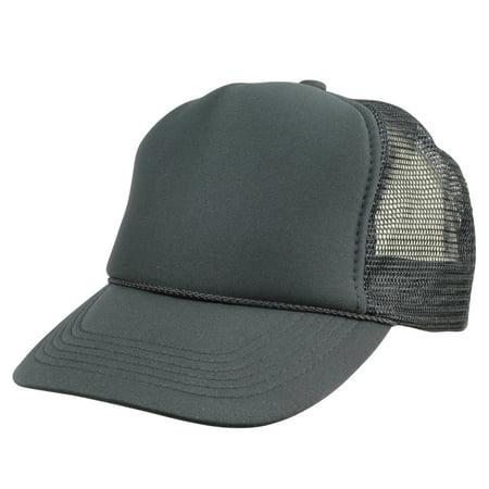 DALIX Youth Mesh Trucker Cap in Black