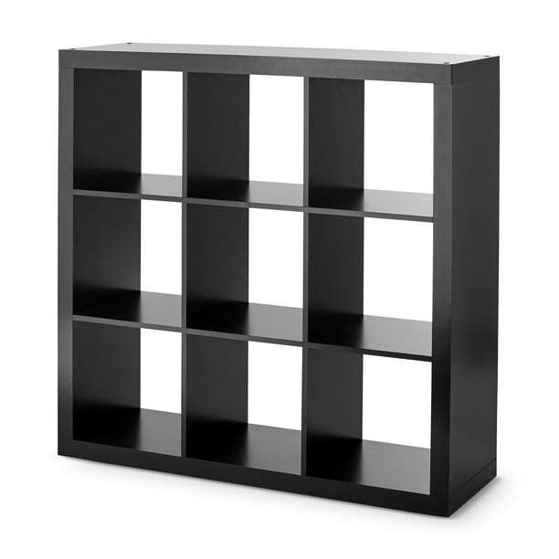 Better Homes & Gardens 9-Cube Storage Organizer, Solid Black