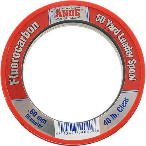 Andre Fluorocarbon 50 yd Wrist Spool Fishing Line, Clear