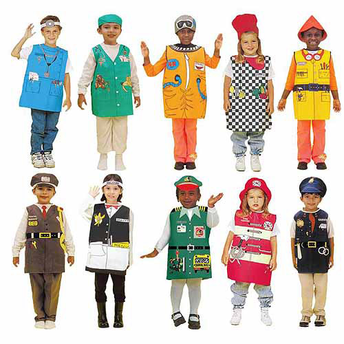 Childcraft Doll/Teddy Bear Occupation Costume Set, Set of 10