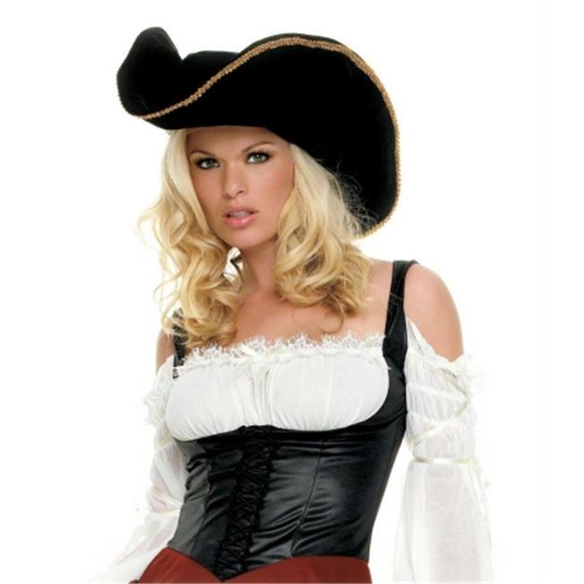 Costumes For All Occasions Ua2078 Pirate Hat W Gold Trim