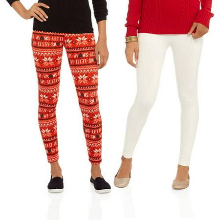 b48a0712eba No Boundaries - Juniors  Holiday Fleece Lined Leggings