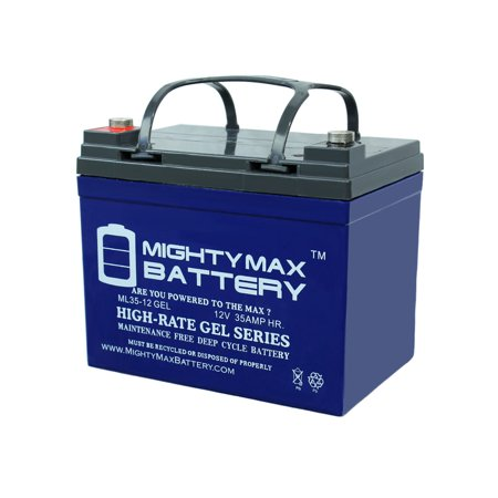 Wheelchair Mobility Battery (12V 35AH GEL Battery for Pride Mobility Sundancer Scooter Wheelchair )
