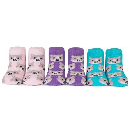 3 Pack of Cat Socks 0-12 Months