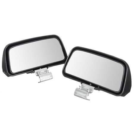 2Pcs Black Universal Wide Angle Rear Side View Blind Spot Mirror For Car Truck - image 6 of 6