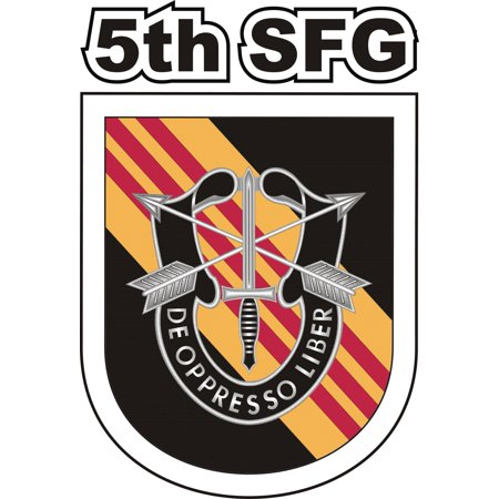 3.8 Inch 5th Special Forces Group Vietnam Decal 5th Special Forces Group