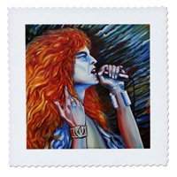 3dRose Robert Plant one of the best vocalists of all time - Quilt Square, 14 by 14-inch