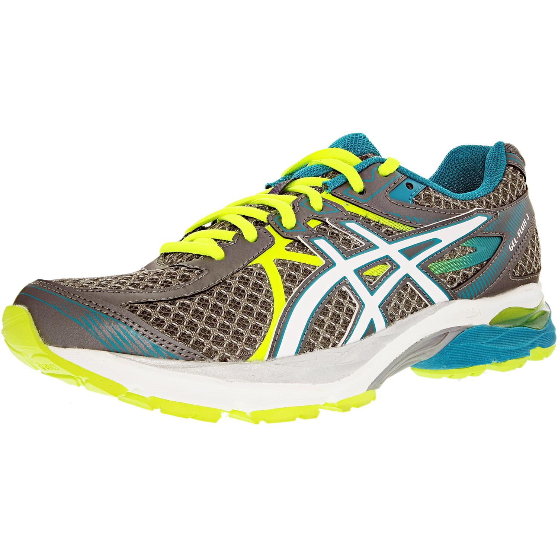 Asics Women's Gel-Flux 3 Titanium/White/Enamel Blue Ankle-High Running Shoe - 6W