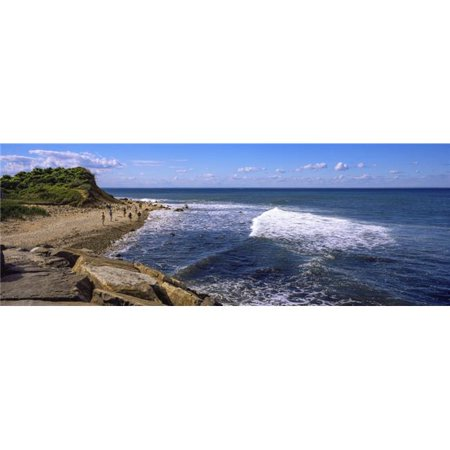Panoramic Images PPI157008L Boulders On The Beach Montauk Point Montauk Suffolk County New York State USA Poster Print, 36 x 12 - image 1 de 1