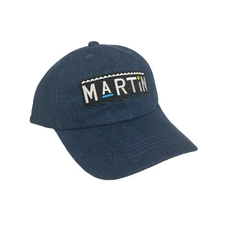 Martin Blue Denim Hat Baseball Cap Buckle Dad TV Show 90s Costume Lawrence Payne - Marvin Costume
