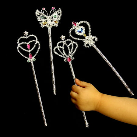 Star Wands | 12 Pack Metallic Wands That Measure 8 1/2 Inches | Great For Birthdays, Princess Costume, Halloween (Halloween Birthday)