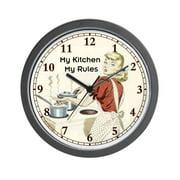 "CafePress - My-Kitchen - Unique Decorative 10"" Wall Clock"