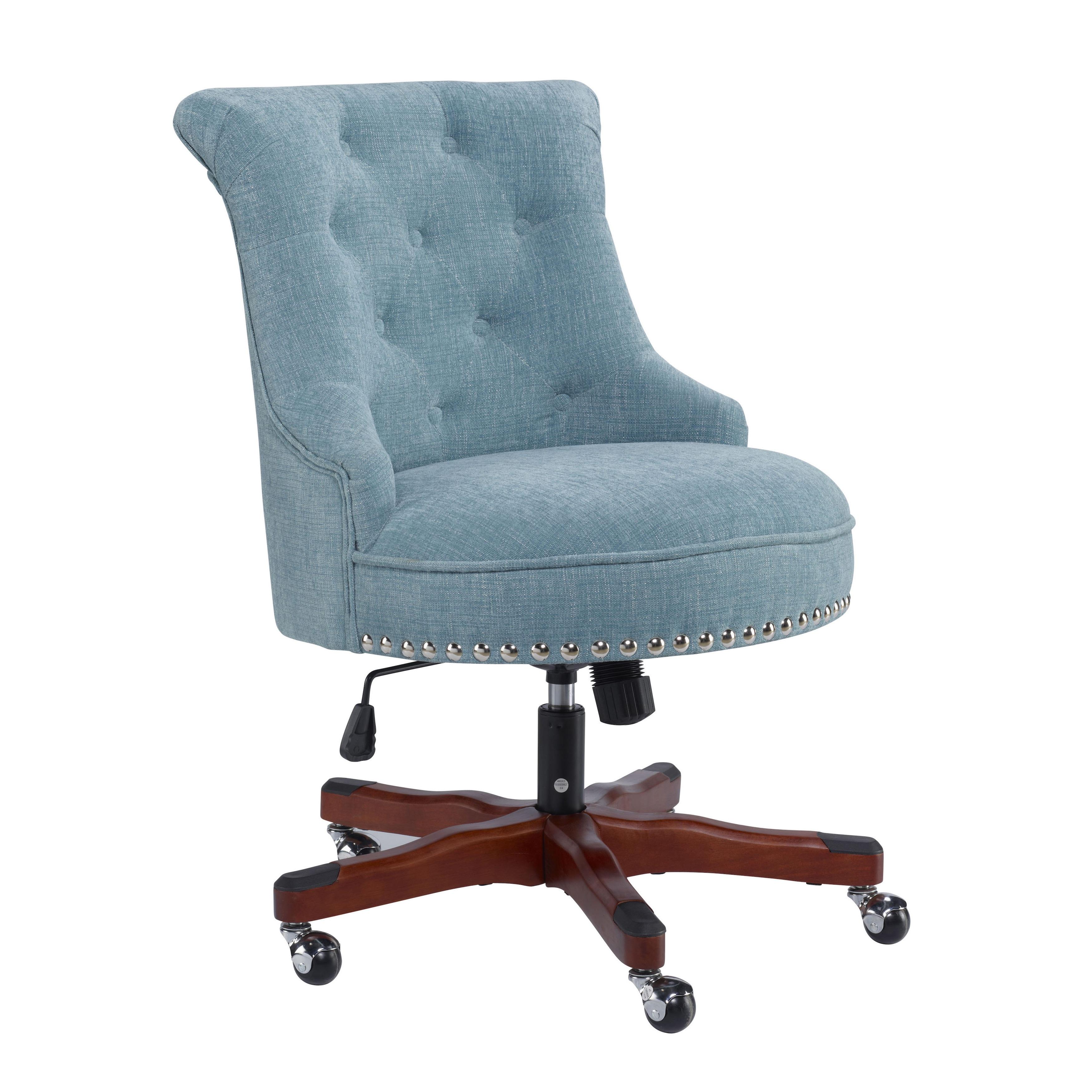 Linon Pamela Office Chair Blue Walmart Com Walmart Com